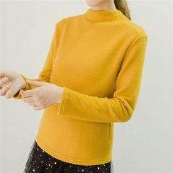 Honey House - Plain Mock Neck Pullover