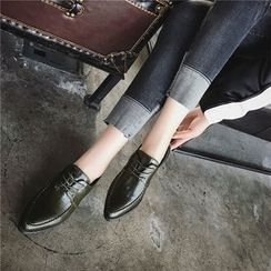 Hipsole - Pointy-Toe Lace-Up Oxfords