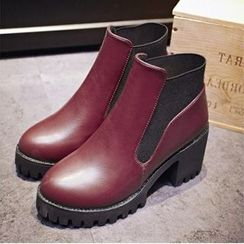 Tomma - 厚底粗跟短靴