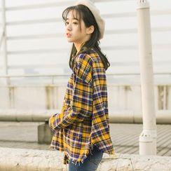 DK Yannie - Long-Sleeve Plaid Shirt