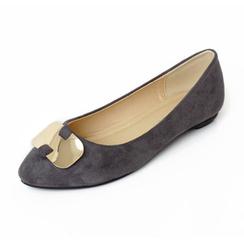 YesStyle Footwear Faux Suede Flats
