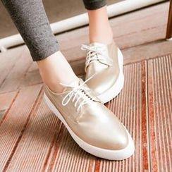 Tomma - 繫帶平跟鞋