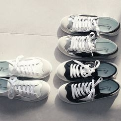 DANI LOVE - Glossy-Panel Sneakers