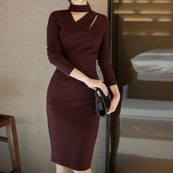 Yilda - Open-Front Sheath Dress