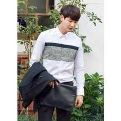 GERIO - Cotton Color-Block Shirt