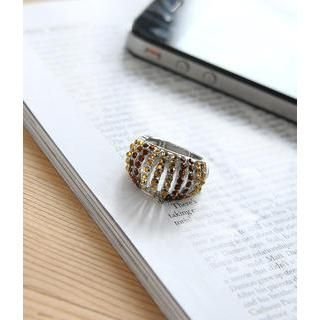 Petit et Belle - Adjustable Rhinestone Ring