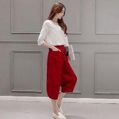 Romantica - 套装: 上衣 + 七分裤
