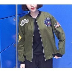 Oaksa - Applique Bomber Jacket