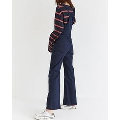 Someday, if - Wide-Leg Cotton Suspender Pants