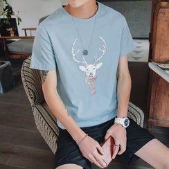百高 - 短袖印花T恤
