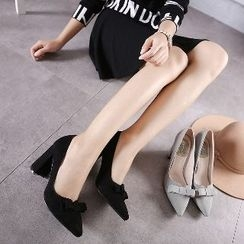Mancienne - Bow-Accent High-Heel Pumps