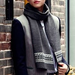 Amandier - 图案针织围巾