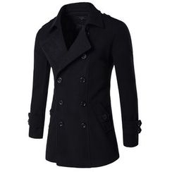 Bay Go Mall - Double-breasted Knit Coat
