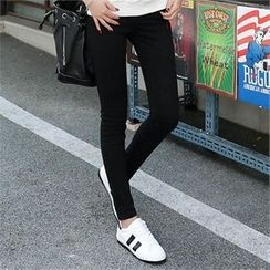 CHICFOX - Zip-Detail Skinny Pants
