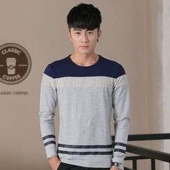 Neptuno - Striped Long-Sleeve T-Shirt
