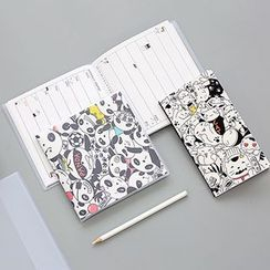 Class 302 - Cartoon Print Weekly Planner (S) / Account Book (M)