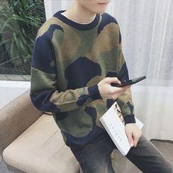 JUN.LEE - Camo Sweater
