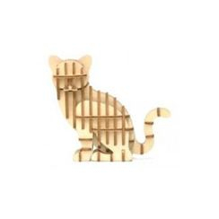 Team Green - Plywood Puzzle - Cat
