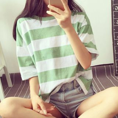 Fashion Street - Stripe Short-Sleeve T-shirt