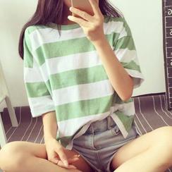Fashion Street - Striped Short-Sleeve T-Shirt