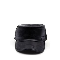 Ohkkage - Faux-Leather Military Cap