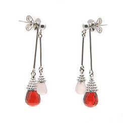 Bellini - Garnet and Rose Quartz 'Lovely Little Dancer' Earrings