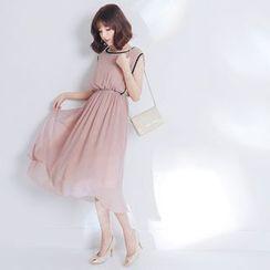 Tokyo Fashion - Chiffon Sleeveless Midi Dress