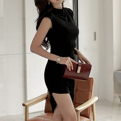 Jolly Club - Plain Sheath Cashmere Dress