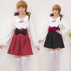 GOGO Girl - Bow Suspender Skirt