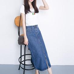 Yohana - Denim Midi Skirt