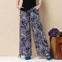 Diosa - Printed Wide Leg Pants