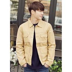 JOGUNSHOP - Buttoned Cotton Jacket