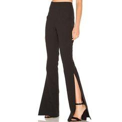 Obel - Plain Slit-Side Boot Cut Pants