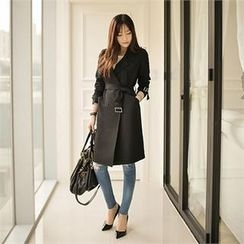 O.JANE - Double-Breasted Trench Coat With Belt
