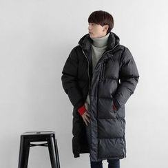 Seoul Homme - Zip-Detail Padded Long Jacket