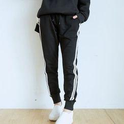 BAIMOMO - 條紋運動褲