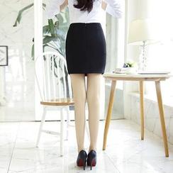 潞依韓 - 開衩鉛筆裙