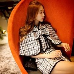 Dabuwawa - Sleeveless Wool Blend A-Line Dress