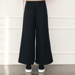 DANI LOVE - Wool Blend Wide-Leg Pants