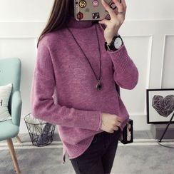 Qimi - Mock Neck Sweater