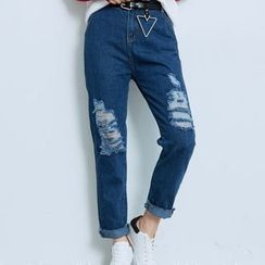 BAIMOMO - Cropped Jeans