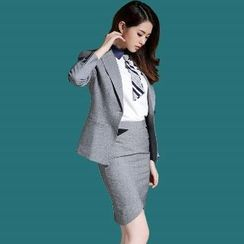 艾尚臣 - 套裝: 西裝 + 襯衫 + 鉛筆裙