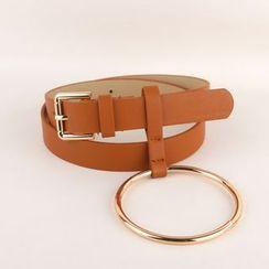 Goldenrod - Metal Ring Skinny Belt