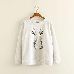 Mushi - Rabbit Print Pullover