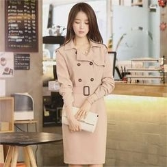CHICLINE - H-Line Trench Dress