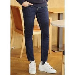 JOGUNSHOP - Fleece-Lined Slim-Fit Jeans