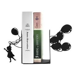 LIFE STORY - Set of 2: Girl & Balloon Book End