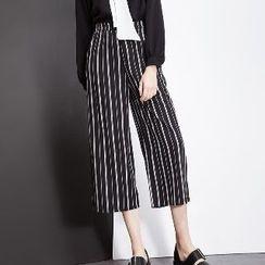 Halona - Striped Cropped Pants
