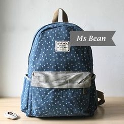 Ms Bean - Floral Canvas Backpack