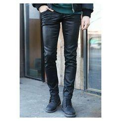 HOTBOOM - Straight-Cut Coating Pants